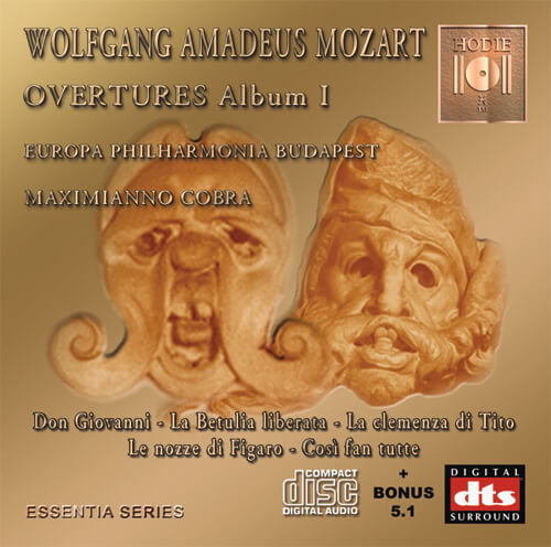 MOZART - Opera Overtures Album I - CD Audio