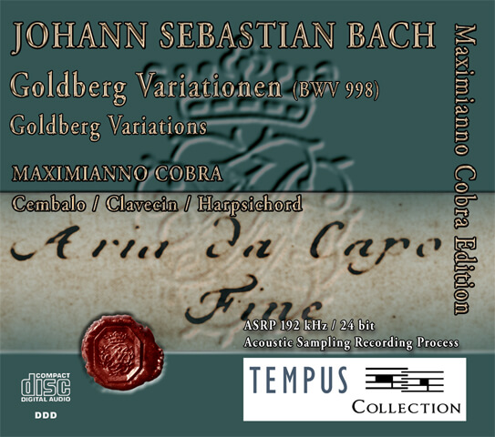 BACH - Goldberg Variations BWV 988 - CD Audio
