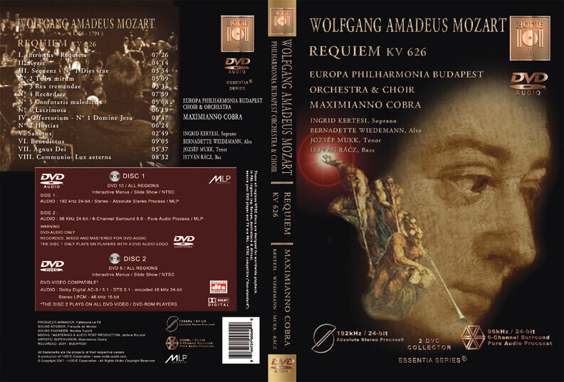MOZART - Requiem - KV 626 - DVD-AUDIO
