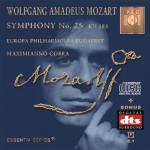 MOZART - Symphony No. 25 KV 183 - DTS CD