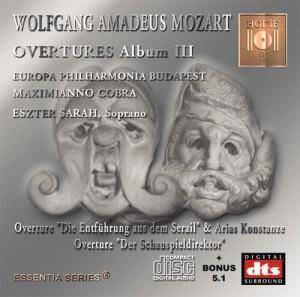MOZART - Opera Overtures Album III - DTS CD