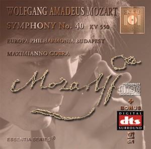 MOZART - Symphony No. 40 KV 550 - CD Audio