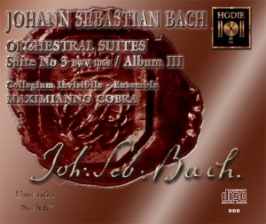 BACH - Orchestral Suite No. 3 - CD Audio
