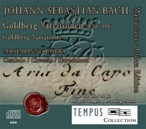 BACH - Goldberg Variations BWV 988 - CD Audio